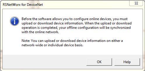 RSNetworx Configuration Prompt