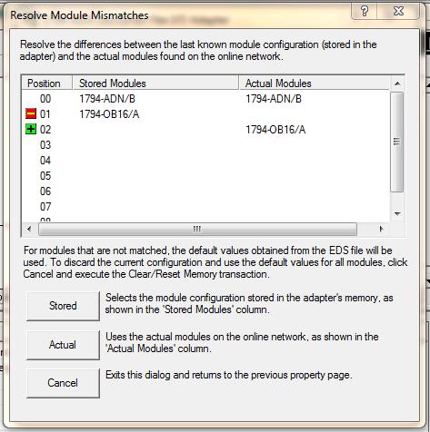 Resolve Module Mismatch Prompt