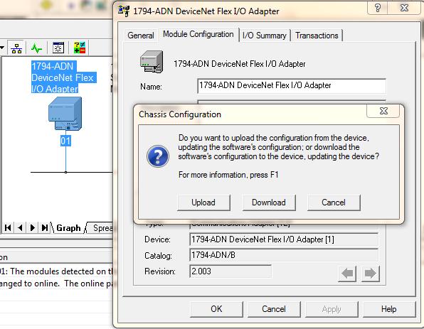 Upload 1747-SDN Scanner Configuration