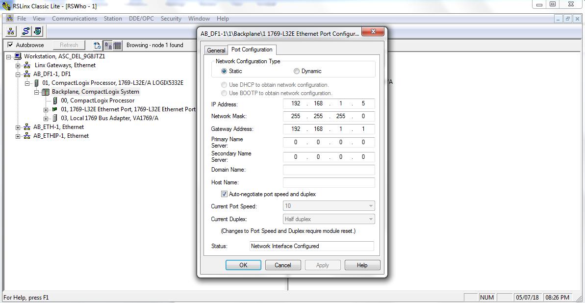 Set IP Address and Subnet Mask - Change Network Configuration Type