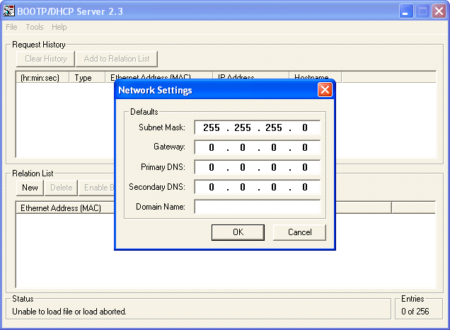 Configure IP address and subnet for the PLC.