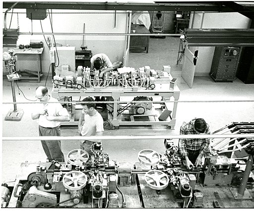 """""""Code-named Project Tinkertoy, the major objective of the program was the design and construction of a pilot plant compatable with the principles of modular design and mechanized production of electronics, or MDE and MPE. NBS intended to develop a process for automated manufacture of electronic equipment and to demonstrate it on a pilot production line."""