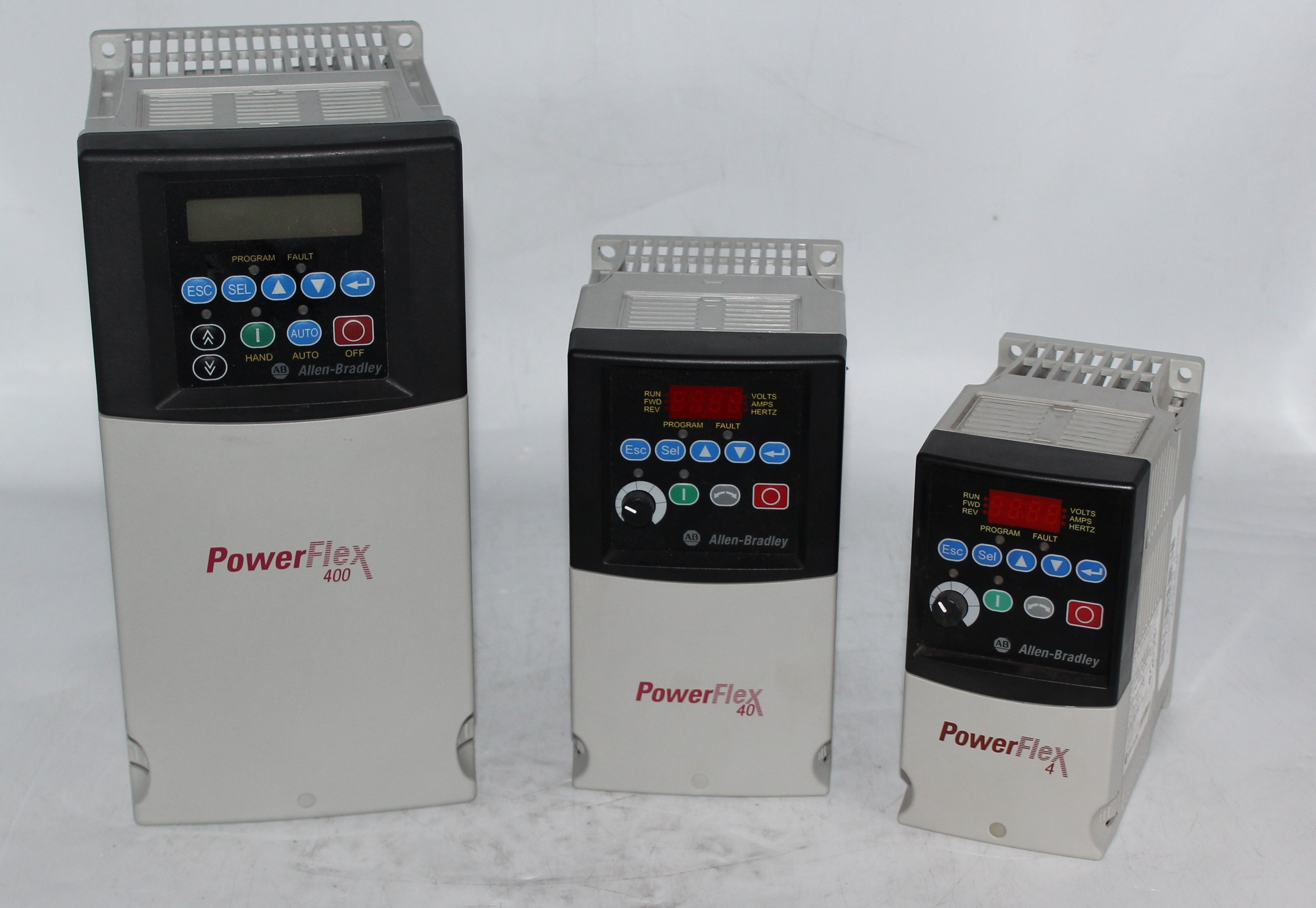 Hardware Comparison: PowerFlex 4, 40, and 400 Drives