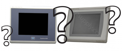 Panelview 5500 (left) and Panelview Plus 7