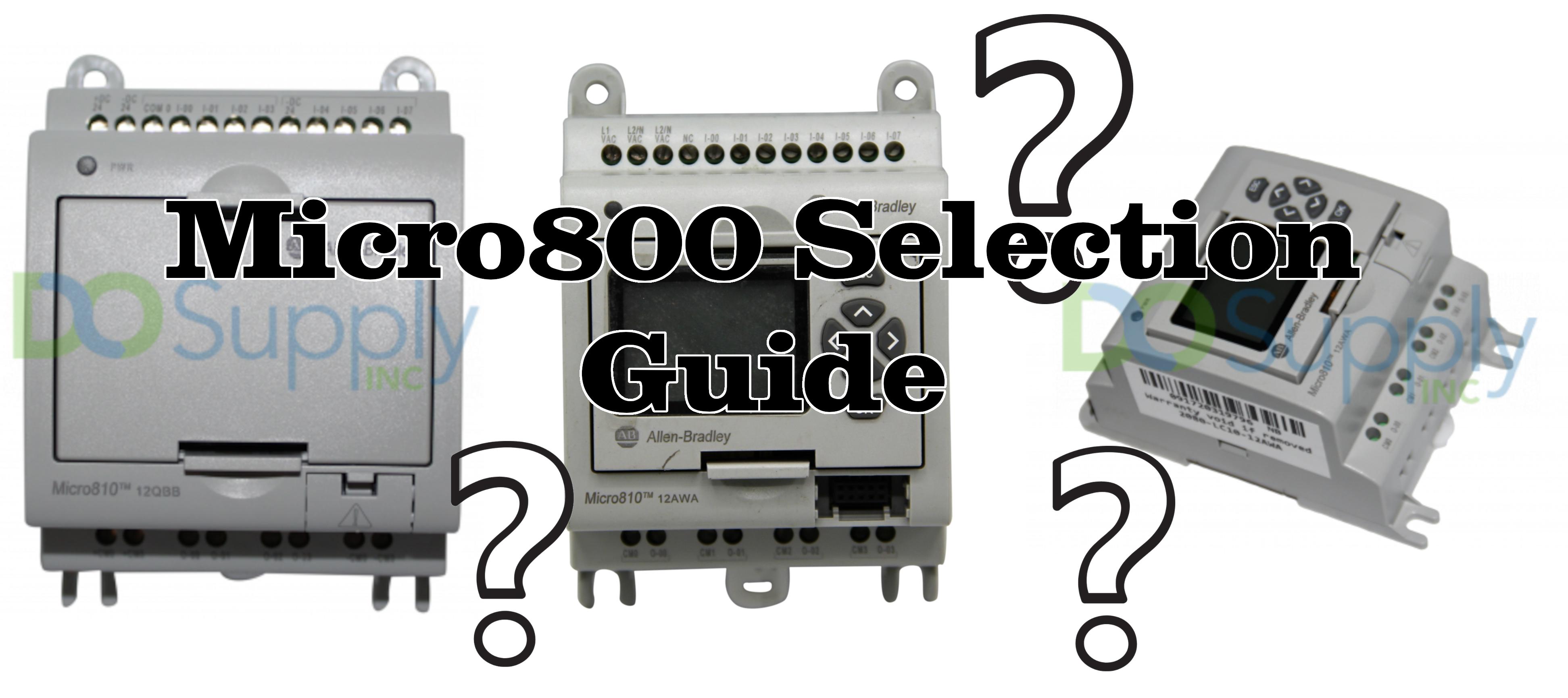 Hardware Comparison: Micro800 Selection Guide